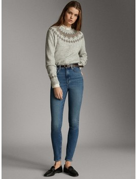 High Rise Jeans – Skinny Fit by Massimo Dutti