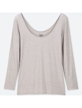 T Shirt Termica Heattech Jersey Scollata Maniche Lunghe Donna by Uniqlo