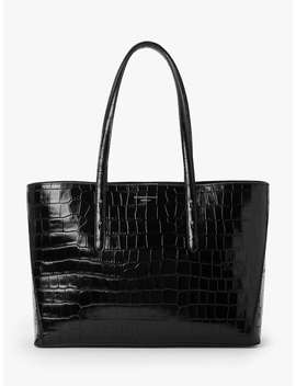 Aspinal Of London Regent Leather Tote Bag, Black Croc by Aspinal Of London