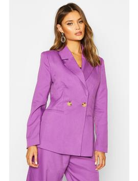 Double Breasted Strong Shoulder Blazer by Boohoo