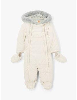 John Lewis & Partners Baby Snowsuit, Off White, Off White by John Lewis & Partners