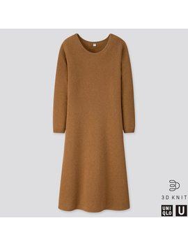 Vestito Uniqlo U Largo Lana Premium Punto 3 D Maniche Lunghe Donna by Uniqlo