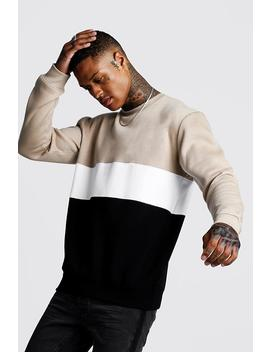 Colour Block Sweater by Boohoo
