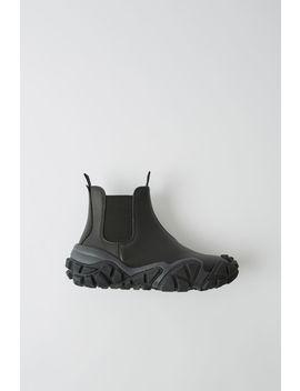 Ankle Boots Aus Leder Schwarz by Acne Studios
