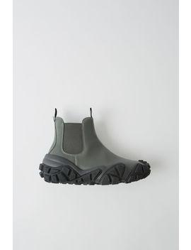 Ankle Boots Aus Leder Grün/Schwarz by Acne Studios