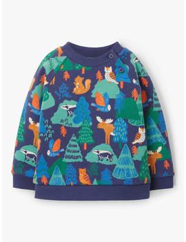 John Lewis & Partners Baby Woodland Sweatshirt, Multi by John Lewis & Partners