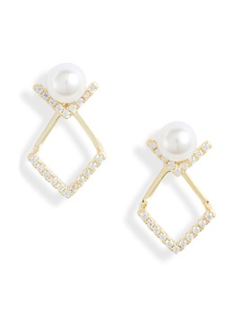 Stud Drop Earrings by Knotty