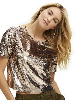 Scoop Women's Sequin Crop Top by Scoop