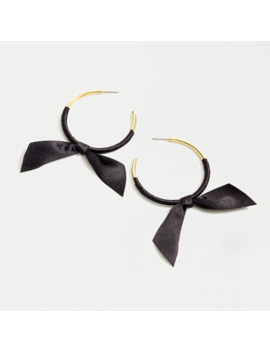 Hoop Earrings With Ribbon Tie by J.Crew