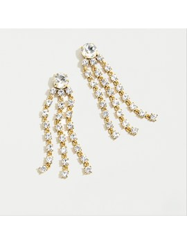 Crystal Fringe Statement Earrings by J.Crew
