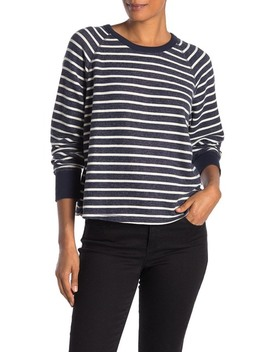Stripe Raglan Sleeve Sweatshirt by Madewell