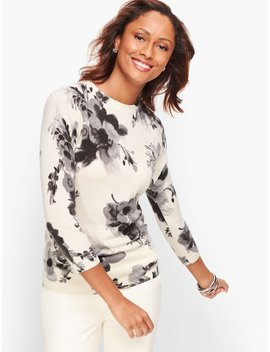 Cashmere Audrey Sweater   Winter Floral by Talbots