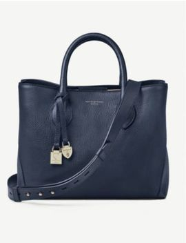 London Midi Leather Tote Bag by Aspinal Of London