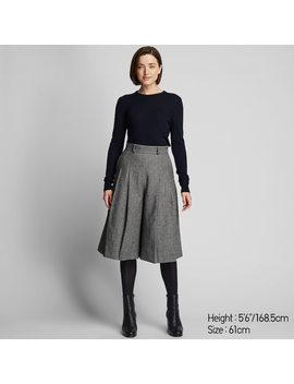 Gonna A Pantaloni Tweed Vita Alta Donna by Uniqlo