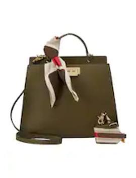 Earthette Double Compartment Satchel Solid   Handbag by Zac Zac Posen