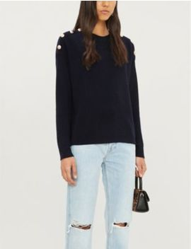Button Detail Wool And Cashmere Blend Jumper by The Kooples