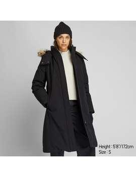 Hybrid Down Ultra Warm Long Coat by Uniqlo