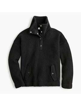 Snap Collar Sherpa Sweatshirt In Polartec® Fleece by Snap Collar Sherpa Sweatshirt In Polartec