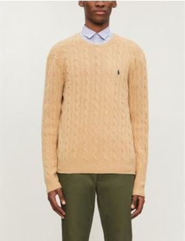 Cable Knit Wool And Cashmere Blend Jumper by Polo Ralph Lauren