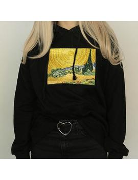 Wheat Field With Cypresses Hoodie by Boogzel Apparel