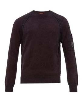Lens Embellished Technical Fleece Sweatshirt by C.P. Company