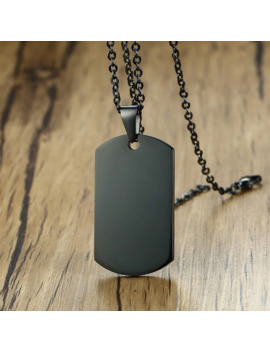 Minimalist Mens Stainless Steel Dog Tag Pendant Necklace High Polished Male Collar Accessories by Ali Express.Com