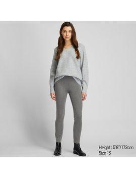 Pantaloni Leggings Heattech Ponte Di Roma Donna by Uniqlo