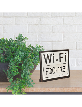 Better Homes & Gardens Tabletop Wifi Password Sign, Black by Better Homes & Gardens