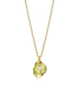 X Caroline Issa Lemon Quartz Pendant Necklace by Monica Vinader