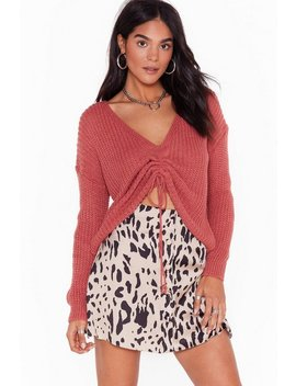 Pull A Fast One Relaxed Knit Sweater by Nasty Gal