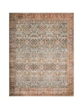 Loloi Ii Layllay 04 Ocru2339 Layla 2 1/4' X 3 3/4' Synthetic Traditional Rectangle Throw Rug by Loloi Rugs