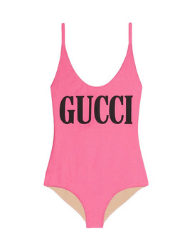 Pink Logo Swimsuit by Gucci