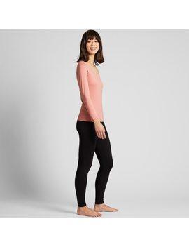 T Shirt Termica Heattech Jersey Collo Rotondo Maniche Lunghe Donna by Uniqlo