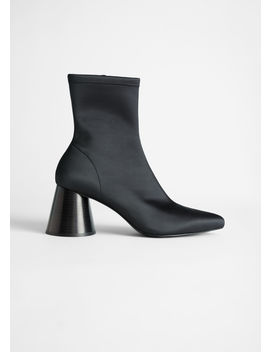 Pointed Satin Sock Boot by & Other Stories