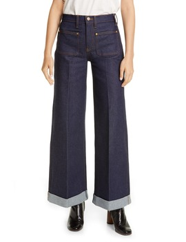 The Ray Roll Cuff Wide Leg Jeans by Khaite