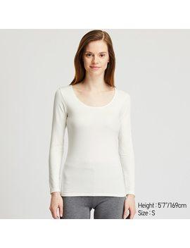T Shirt Termica Heattech Extra Caldo Collo Rotondo Maniche Lunghe Donna by Uniqlo