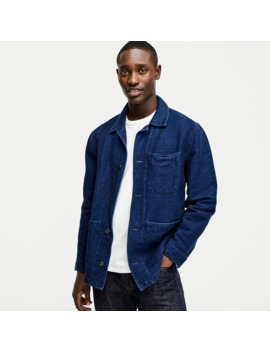 Wallace & Barnes Chore Jacket In Indigo Chamois by J.Crew