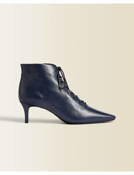 Winnie Leather Pointed Boot by Jigsaw