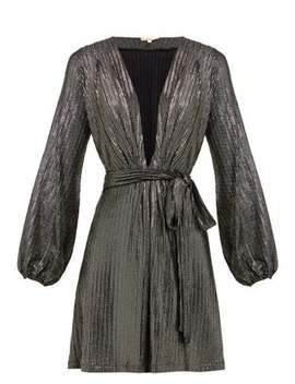 Banks Metallic Striped Mini Dress by Melissa Odabash