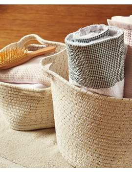 Cotton Baskets With Handles by Zara Home