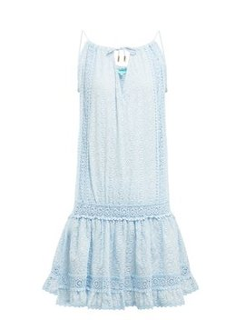 Chelsea Embroidered Cotton Mini Dress by Melissa Odabash