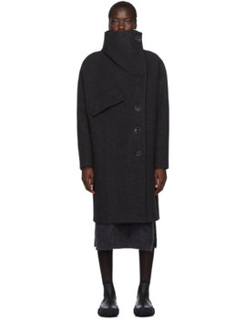 Black Ciara Boiled Wool Coat by Acne Studios