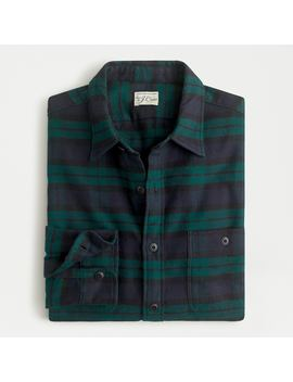Slim Midweight Flannel Shirt In Black Watch Tartan by J.Crew