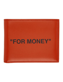 Orange Quote Bifold Wallet by Off White