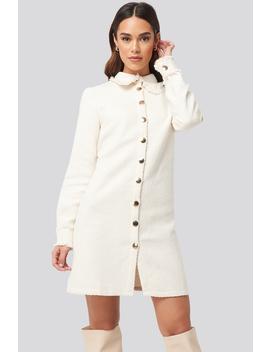 Buttoned Jacket Mini Dress Hvid by Trendyol