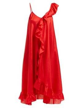 Noemi Asymmetric Silk Dress by Mes Demoiselles