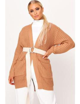 Tan Chunky Knit Cardigan by I Saw It First