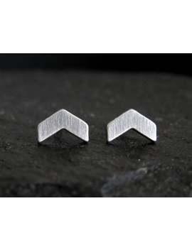 Chevron Stud Earrings / Arrow Earrings / Chevron Earrings / Hypoallergenic Earrings / Small Studs / Stainless Steel Studs by Etsy