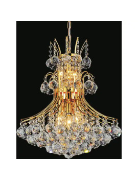 8 Light Chandelier With Gold Finish by Generic