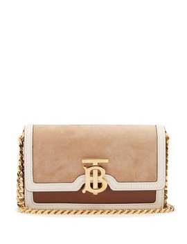 Jessie Tb Mini Leather Cross Body Bag by Burberry